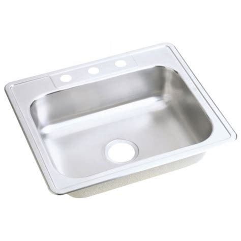 dayton stainless steel sinks elkay 25x22 dayton 3h select sink stainless dj125223