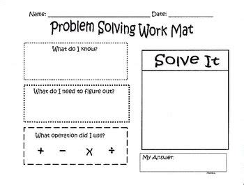 problem solving template problem solving template for math ed