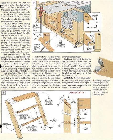 Table Saw Workstation Plans by Table Saw Workstation Plans Woodarchivist