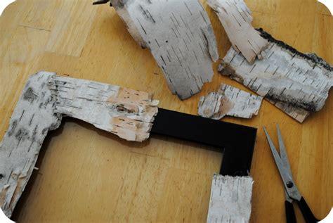 How To Make Birch Bark Paper - gardenmama handmade birch bark frame