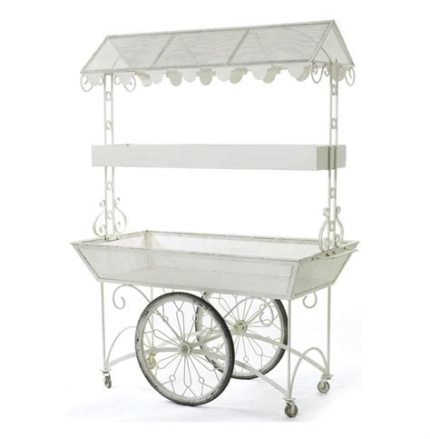 garden flower cart cottage shabby chic white garden flower cart