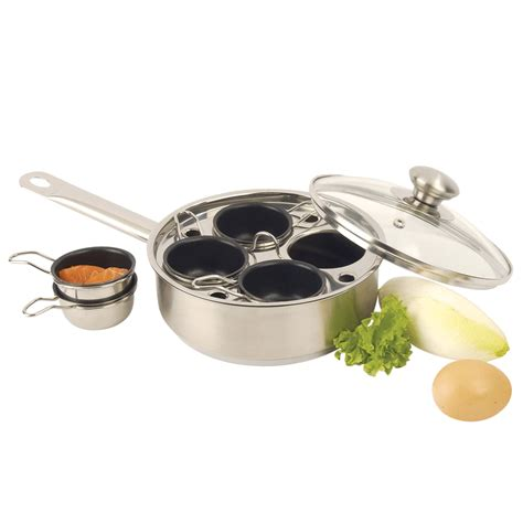 Egg Poacher Set demeyere resto 4 cup stainless steel egg poacher set
