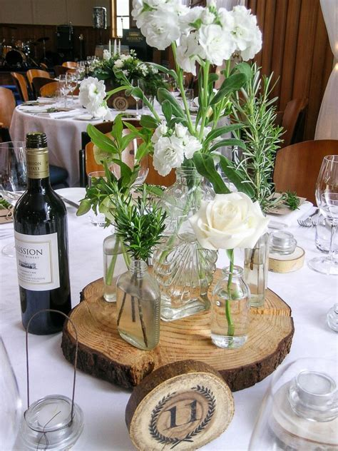 Concept Wedding Centre by Table Centrepieces Of Rosemary Moss In Terracotta Pots