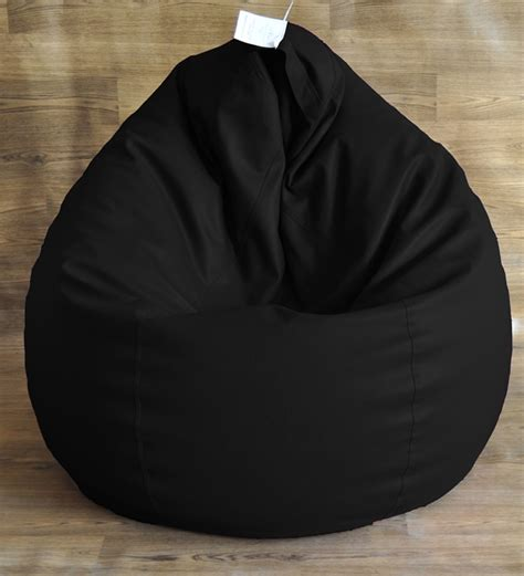 Bean Bags For Bean Bag Style Homez Black Classic Bean Bag Cover Without