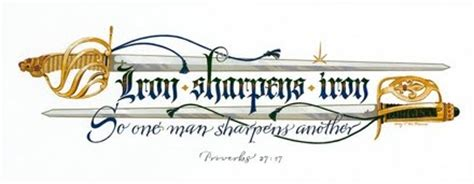 iron sharpens iron tattoo proverbs and irons on