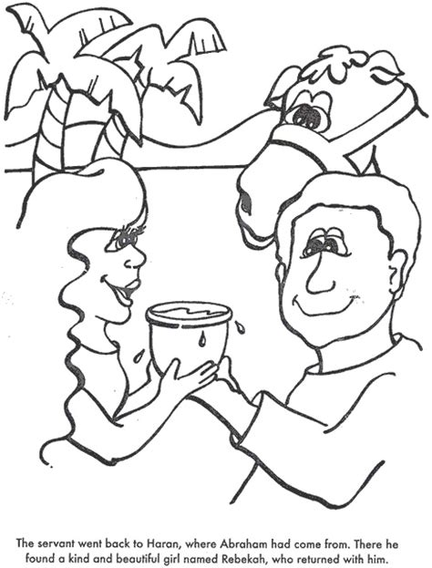 bride for isaac coloring page coloring pages