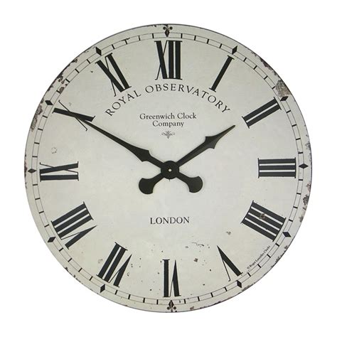 extra large wall clock roger lascelles extra large greenwich dial wall clock cream