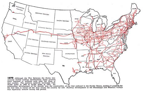 railroad map usa railroad net view topic maps showing growth and