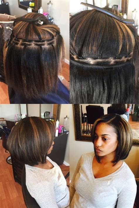 pictures of short partial sew in for black women sew in weave bob hairstyles pictures hairstyles