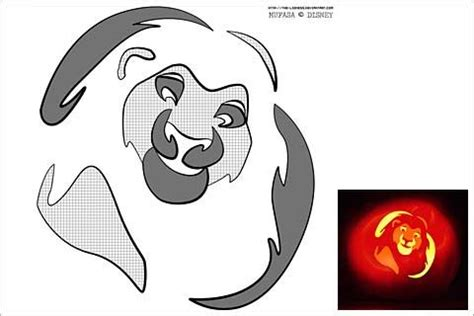 lion king pumpkin template halloween pinterest