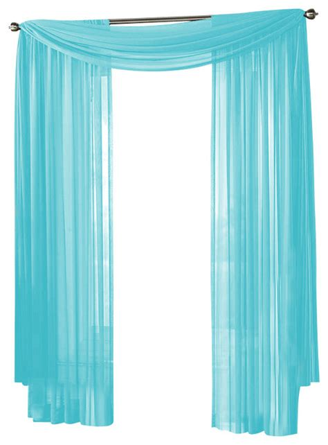 Aqua Blue Window Valance Hlc Me Sheer Curtain Window Aqua Blue Scarf