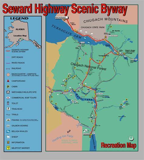 us map seward alaska seward highway