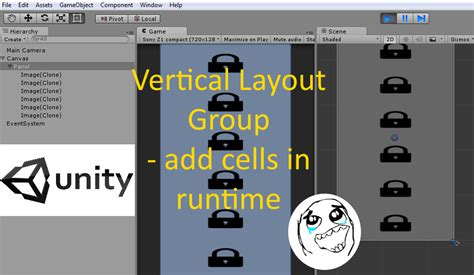 unity panel layout codingtrabla unity3d vertical layout group add cells