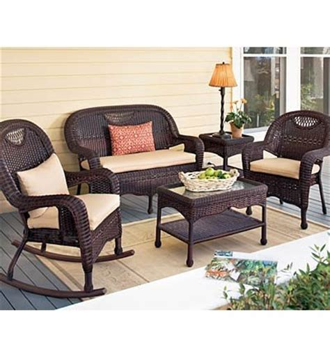 weather resistant patio furniture prospect hill weather resistant outdoor resin wicker dining chair settee end table coffee