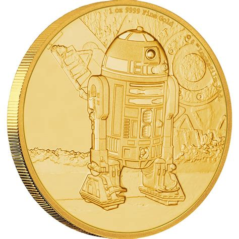Coin Starwars wars classic r2d2 1 oz gold coin new zealand mint