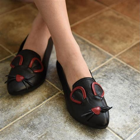 comfortable high heels for flat aliexpress buy casual genuine leather shoes