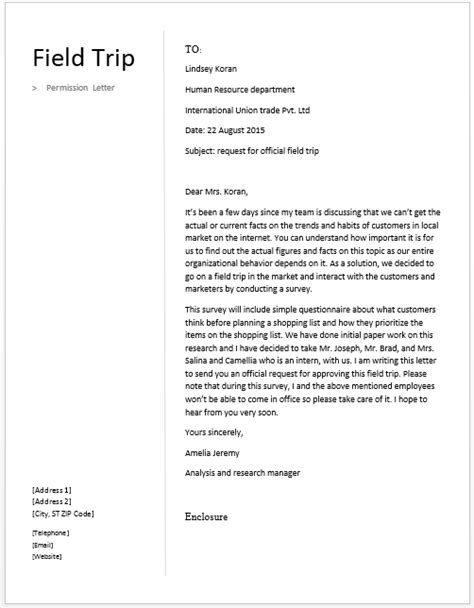 Parent Consent Letter For Outing primary school trip letter to parents sles 35