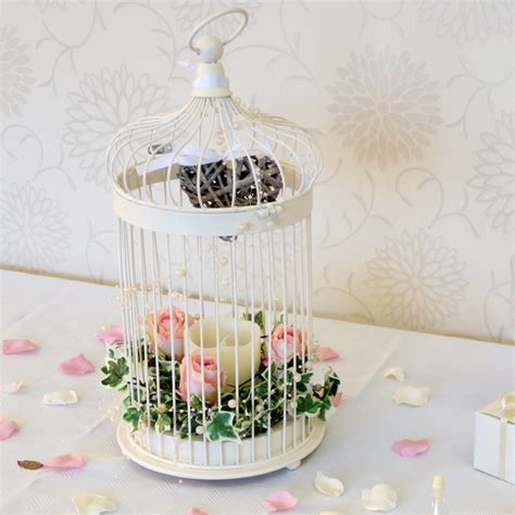 44 5cm round cream bird cage wedding mall