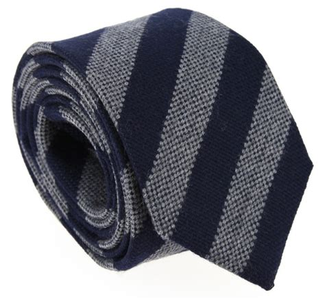 light blue wool tie navy blue and grey stripes hackett wool tie the house of