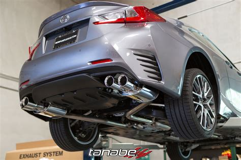lexus rc f exhaust new tanabe medalion touring exhaust for 2015 lexus rc350