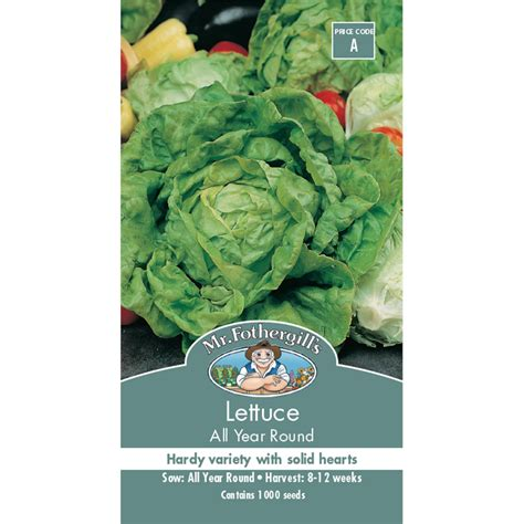 Mr Fothergills Best Of All mr fothergill s all year lettuce vegetable seeds bunnings warehouse
