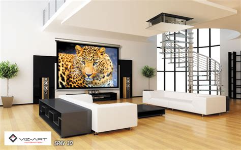 Ceiling Projector Living Room Projector And Screen For Your Living Room Viz