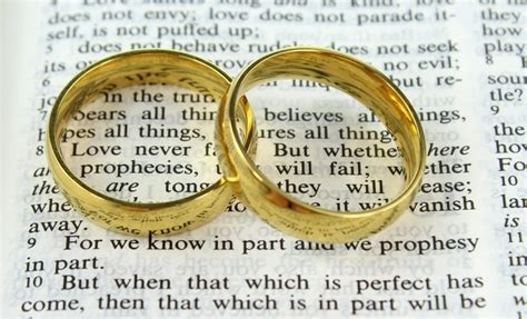 Wedding Rings On Bible by Wedding Rings On A Bible