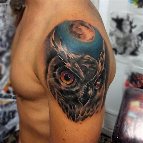 Animal Tattoo Upper Arm | 100 animal tattoos for men cool living creature design ideas