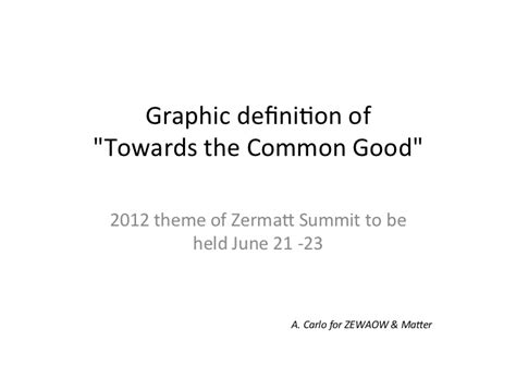 common themes meaning graphic definition of towards the common good