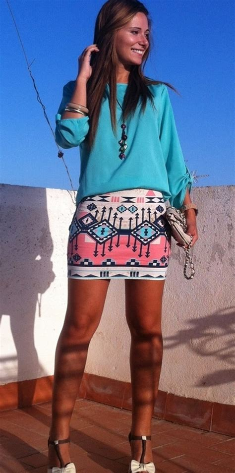 tribal patterned mini skirt 108 eye caching aztec outfits for girls