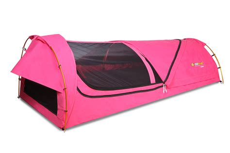 oztrail kokomo single canvas swag pink cing outdoors