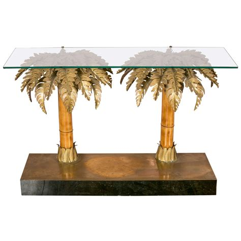 palm tree table l mid century gold palm tree coffee table by hans kgl for