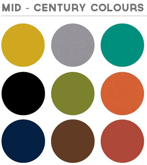 modern color scheme my mid century modern colors repinned by secret design