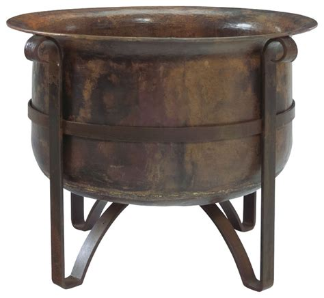 pit copper bowl handcrafted rustic acadia outdoor pit 100 copper