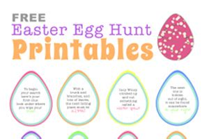 free easter egg hunt printable clues cool easter egg