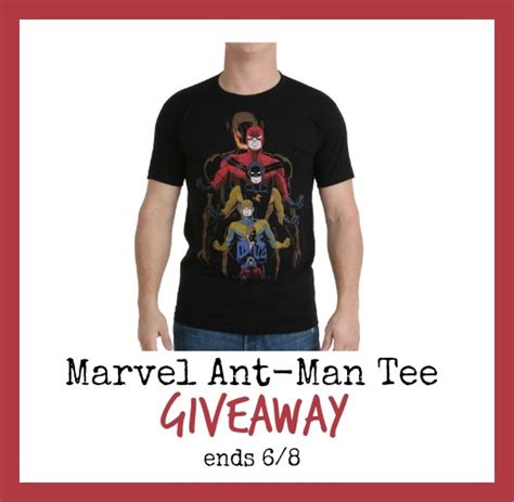 T Shirt Giveaway - marvel ant man t shirt giveaway