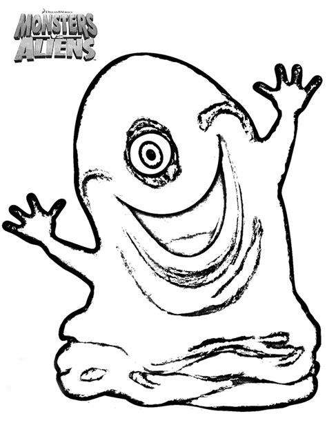 monsters vs aliens coloring pages learn to coloring