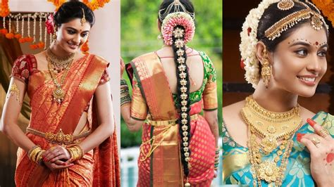 South Indian Bridal Saree Draping With Bridal Makeup Christian Bridal Hairstyle For Saree