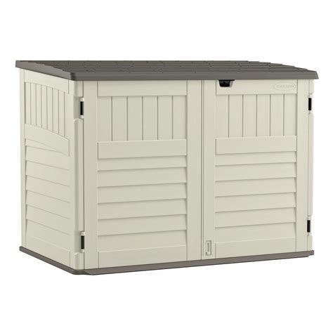 suncast molded horizontal storage shed the home
