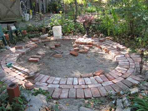 Circular Brick Patio Houses Flooring Picture Ideas   Blogule