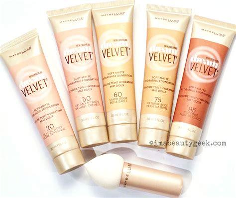 Maybelline Velvet Foundation maybelline velvet soft matte hydrating foundation