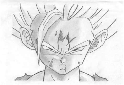 imagenes de goku hechas a lapiz dibujo a lapiz de gohan imagui