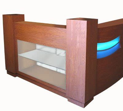 salon reception desk with glass display shore reception desk 48 design x mfg salon