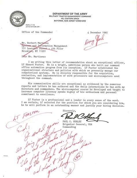 Letter Of Recommendation Ocs officer letter of recommendation sle cover