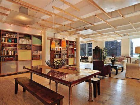 a modern new york city loft decoist pet friendly new york loft punctuated by cement columns