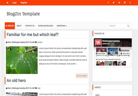 blog themes with ad space blogzin responsive blogger template 2014 free blogger