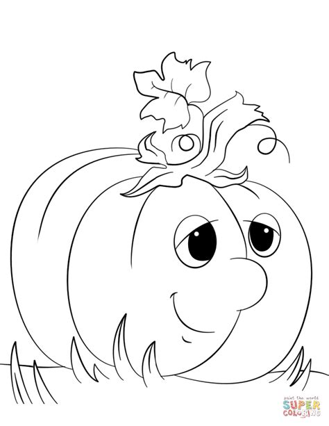 cartoon pumpkin coloring pages cute cartoon pumpkin coloring page free printable
