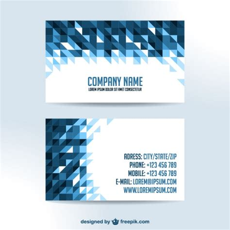 free sle business cards templates business cards triangle design vector free