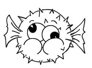 puffer fish coloring pages getcoloringpages