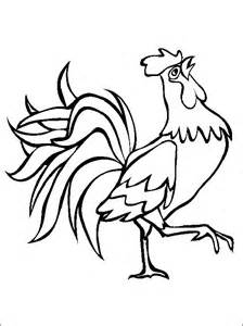 Printable Animal Coloring Page Of A Rooster From Our Book sketch template